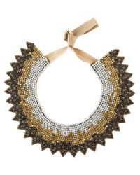 Valentino - Brown Crystal Necklace - Lyst