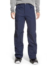 The North Face | Blue 'freedom' Hyvent Waterproof Cargo Snow Pants for Men | Lyst