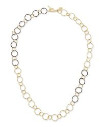 Armenta | Metallic Midnight & 18k Circle Link Necklace for Men | Lyst