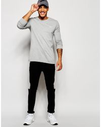 Nike | Gray Long Sleeve T-shirt With Embroidered Swoosh 715379-063 for Men | Lyst