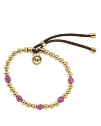 Michael Kors - Metallic Bead Embellished Bracelet - Lyst