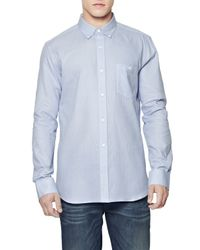 French Connection | Blue Pixel Cotton Dotty Shirt for Men | Lyst