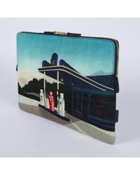 "Paul Smith - Blue 'Graphic Garage' Print 15"" Laptop Sleeve for Men - Lyst"