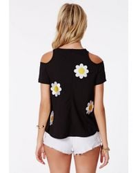 Missguided - Multicolor Daisy Print Cut Out Top - Lyst