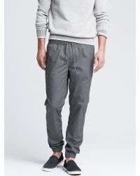 Banana Republic - Gray Aiden Slim Twill Drawcord Pant for Men - Lyst