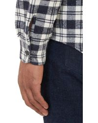 A.P.C. - Blue Flecked Plaid Flannel Shirt for Men - Lyst