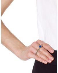 Pamela Love | Metallic Gold Lapis Telepathy Ring | Lyst