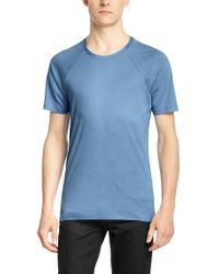 HUGO - Blue 'draper' | Cotton Lyocell T-shirt for Men - Lyst