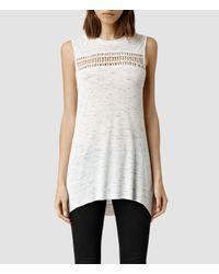 AllSaints - White Simmo Top - Lyst