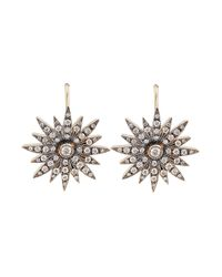 Sylva & Cie - Metallic Diamond Starburst Earrings - Lyst