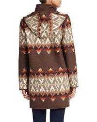 Pendleton - Brown Santa Fe Wool-blend Coat - Lyst