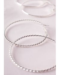 Missguided | Metallic Mixed Hoop And Stud Set Silver | Lyst
