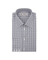 Turnbull & Asser - Blue Exclusive Shirt Featuring A Navy Check With Classic T&a Collar for Men - Lyst