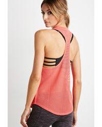 Forever 21 - Pink Active Mesh-back Pocket Tank - Lyst