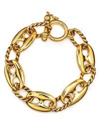 Lauren by Ralph Lauren - Metallic Chain Link Bracelet - Lyst
