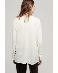 Rag & Bone - White Camden Long Sleeve Tee Almond - Lyst