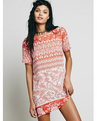 Free People | Red Roadie Dress | Lyst