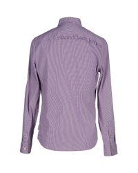 Calvin Klein Jeans - Purple Shirt for Men - Lyst