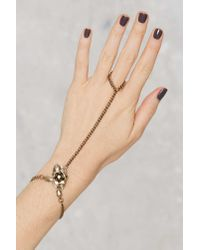 Nasty Gal - Metallic Bud Out Rosette Hand Piece - Lyst