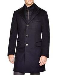 Corneliani - Blue Solid Id Classic Fit Topcoat for Men - Lyst