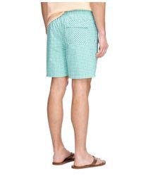 """Brooks Brothers - Green Montauk 6"""" Gingham Swim Trunks for Men - Lyst"""