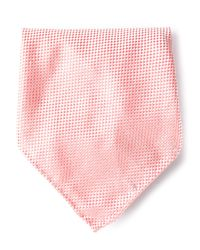 Giorgio Armani   Pink Microcheck Pocket Square for Men   Lyst
