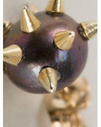 Nektar De Stagni | Purple Spiked Pearl Earrings | Lyst