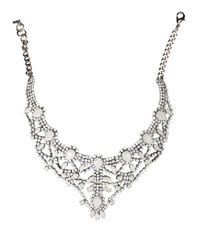 Emanuele Bicocchi - Metallic Palladium Plated Brass Necklace With Swarovski - Lyst