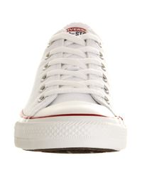 Converse - White All Star Low Trainer for Men - Lyst