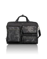 Tumi | Black 'dalston - Tyssen' Double Zip Briefcase for Men | Lyst