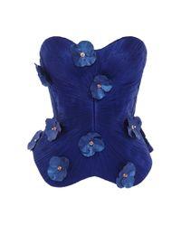 Maria Lucia Hohan - Blue Flora Silk Top - Lyst