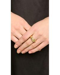 Aurelie Bidermann - Metallic Tribal Engraved Ring - Gold - Lyst