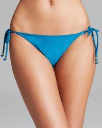 Pilyq | Blue Tie Side String Bikini Bottom | Lyst