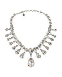 Tom Binns | Metallic Madam Dumont Rhodium-Plated Swarovski Crystal Necklace | Lyst