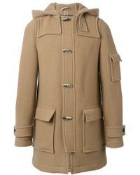 Raf Simons - Natural Hooded Duffle Coat for Men - Lyst
