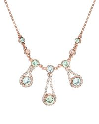 Ted Baker | Pink Crystal Chain Necklace | Lyst