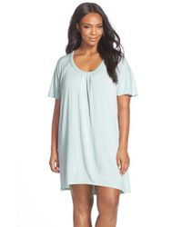 Midnight By Carole Hochman - Green Stretch Modal Sleep Shirt - Lyst