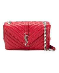Saint Laurent - Red 'monogram' Shoulder Bag - Lyst