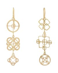 Judy Geib | Metallic Women's Gold Wheel Triple-drop Earrings | Lyst