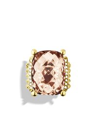 David Yurman | Yellow Wheaton Ring With Morganite And Diamonds In 18k Gold | Lyst