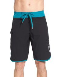 RVCA | Blue 'eastern' Scalloped Hem Board Shorts for Men | Lyst