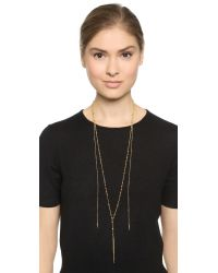 Chan Luu - Metallic Chain Needle Necklace - Yellow Gold - Lyst