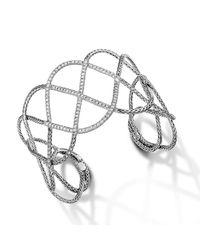 John Hardy | Metallic Wide Woven Braided Cuff | Lyst