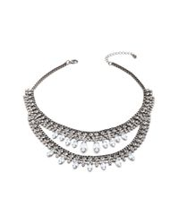 Forever 21 - Metallic Rhinestoned Chain Necklace - Lyst