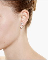 Yvonne Léon - Metallic 18K Gold And Pearl Trilogy Lobe Earring - Lyst