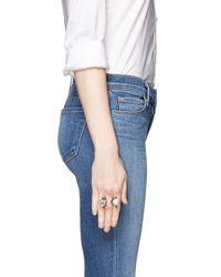 Lanvin - Metallic Pearl Strass Head Brass Ring - Lyst