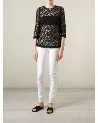 Étoile Isabel Marant - White Penn Slim Low-Rise Denim Jeans - Lyst