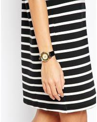 ASOS - Black Stripe Number Dial Watch - Lyst