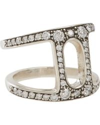 Hoorsenbuhs | Metallic Diamond Sterling Silver Dame Phantom Ii Ring | Lyst