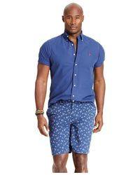 Polo Ralph Lauren   Blue Big And Tall Short-sleeved Oxford Shirt for Men   Lyst